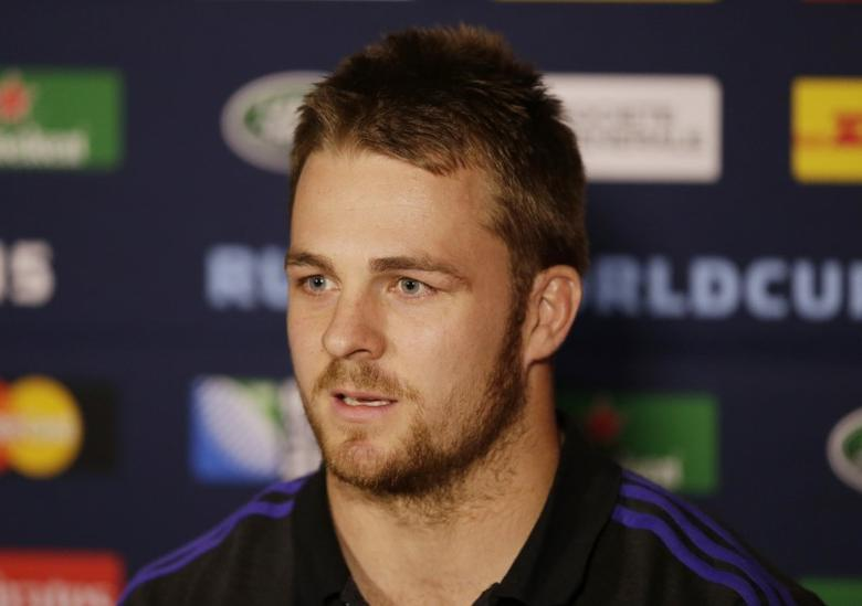 FILE PHOTO: Rugby Union - New Zealand Press Conference - Oatlands Park Hotel, Weybridge, Surrey - 19/10/15Sam Cane of New Zealand during a press conferenceAction Images via Reuters / Henry BrowneLivepic