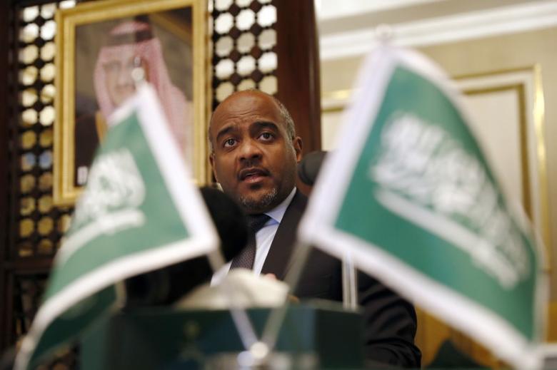 Major General Ahmed Al Asiri, spokesman for the Arab Coalition attends a press briefing at the Embassy of Saudi Arabia in London, Britain November 3, 2016. REUTERS/Stefan Wermuth