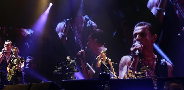 British band Depeche Mode performs during their ''Welcome to My World'' tour in Riga March 2, 2014. REUTERS/Ints Kalnins/Files