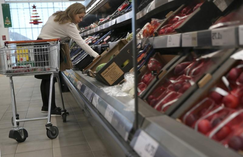 UK grocery prices jump 2.3 percent in 12 weeks to March 26