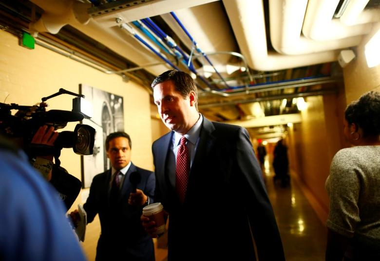 U.S. House Permanent Select Committee on Intelligence Chairman Representative Devin Nunes (R-CA) arrives at a House of Representatives conference meeting on Capitol Hill in Washington, U.S. April 4, 2017. REUTERS/Eric Thayer