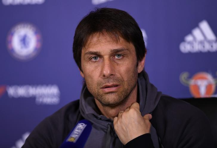 Britain Football Soccer - Chelsea - Antonio Conte Press Conference - Chelsea Training Ground - 4/4/17 Chelsea manager Antonio Conte during the press conference Action Images via Reuters / Tony O'Brien Livepic