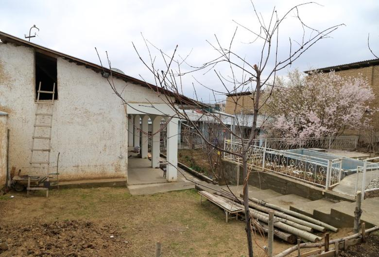 A general view shows the abandoned house where Akbarzhon Jalilov, the main suspect in a blast in a St Petersburg train carriage on April 3, lived in the southern town of Osh, Kyrgyzstan, April 4, 2017. REUTERS/Alisher Isamov