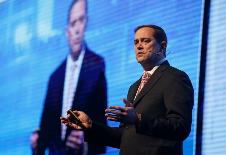 Chuck Robbins, CEO, Cisco, USA, speaks at a Cyber security conference in Tel Aviv, Israel January 31, 2017. REUTERS/Baz Ratner