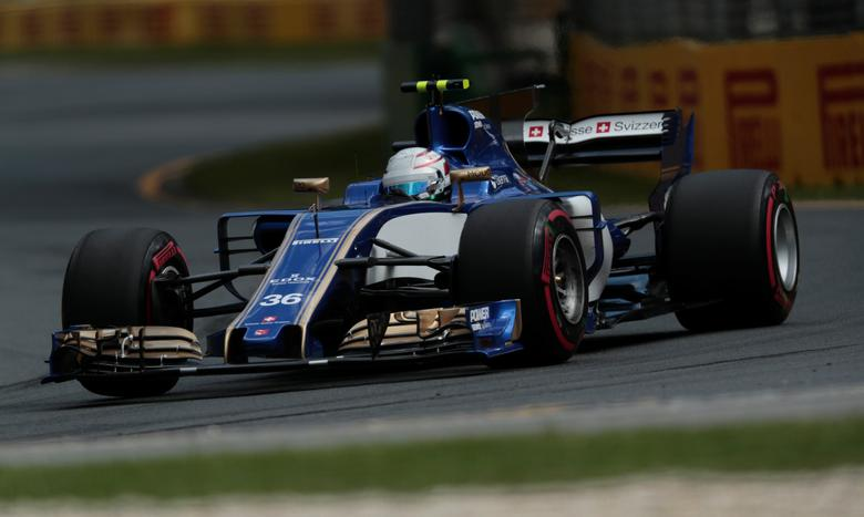 Sauber driver Antonio Giovinazzi of Italy during the third practice session.  REUTERS/Jason Reed