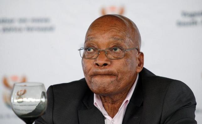 4月7日、南アフリカの首都プレトリアやヨハネスブルクなど複数の主要都市で、ズマ大統領(74、写真)に抗議し、退任を求める大規模なデモ行進が予定されている。写真は南アフリカのピーターマリッツバーグで1日撮影(2017年 ロイター/Rogan Ward)