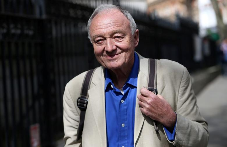 Former London mayor Ken Livingstone leaves after appearing on the LBC radio station in London, Britain, April 30, 2016. REUTERS/Neil Hall/Files