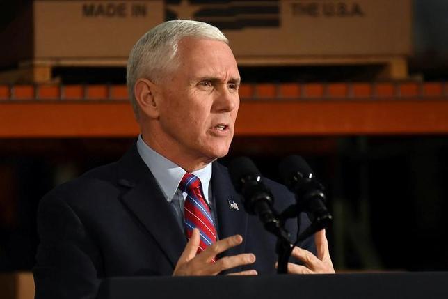 U.S. Vice President Mike Pence in Louisville, Kentucky, U.S., March 11, 2017.  REUTERS/Bryan Woolston