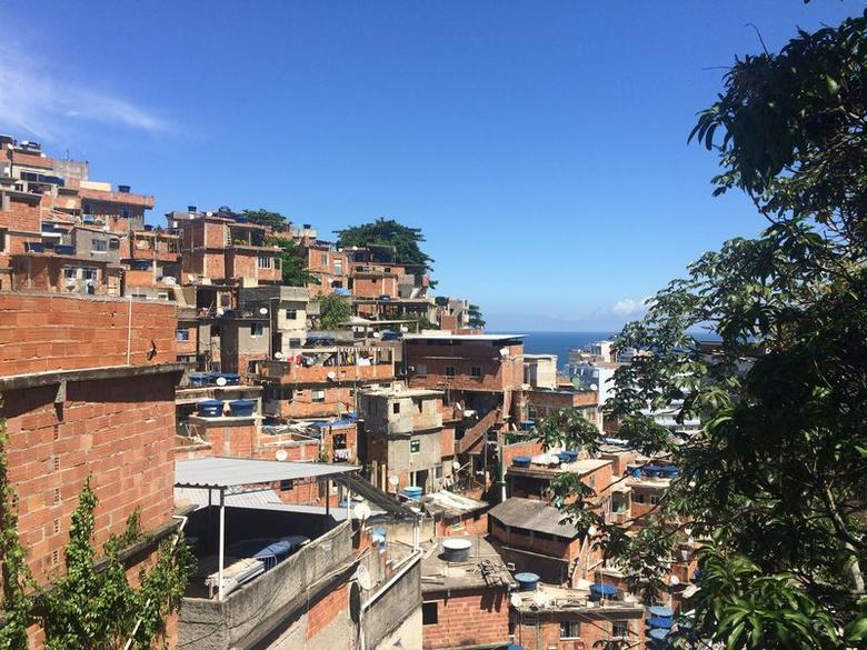 The Cantagalo favela in southern Rio de Janeiro is home to two Catholic churches and at least 15 evangelical churches, according to a local pastor. March 26, 2017, Rio de Janeiro, Brazil (Chris Arsenault/ Thomson Reuters Foundation)