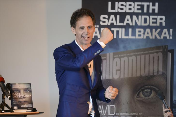 Swedish author David Lagercrantz speaks to the media at an event to promote the fourth book in the Millennium crime series, in Stockholm August 26, 2015. REUTERS/Fredrik Sandberg/TT News Agency/File Photo