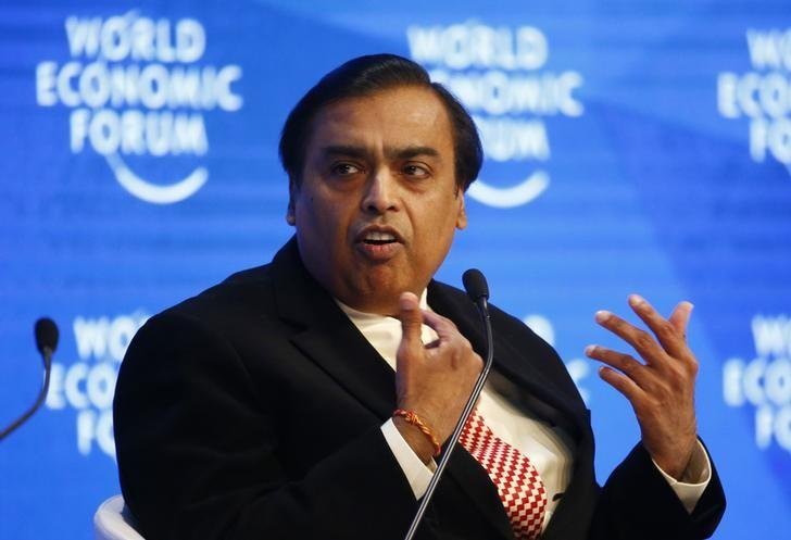 Mukesh Ambani, Chairman and Managing Director of Reliance Industries attends the annual meeting of the World Economic Forum (WEF) in Davos, Switzerland, January 17, 2017. REUTERS/Ruben Sprich