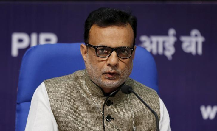 India's Financial Services Secretary Hasmukh Adhia answers a question during a news conference in New Delhi, India August 14, 2015. REUTERS/Adnan Abidi/File photo