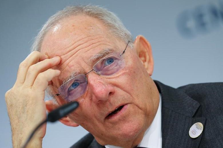 German Finance Minister Wolfgang Schaeuble in Baden-Baden, Germany, March 18, 2017.   REUTERS/Kai Pfaffenbach