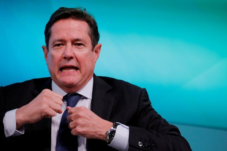 FILE PHOTO - Chief executive officer of Barclays, Jes Staley, takes part in the Yahoo Finance All Markets Summit in New York, U.S., February 8, 2017. REUTERS/Lucas Jackson/File Photo