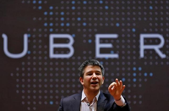 FILE PHOTO: Uber CEO Travis Kalanick speaks to students during an interaction at the Indian Institute of Technology (IIT) campus in Mumbai, India, January 19, 2016. REUTERS/Danish Siddiqui/File Picture