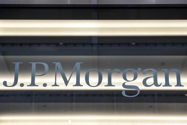 A J.P. Morgan logo is seen in New York City, U.S. January 10, 2017. REUTERS/Stephanie Keith
