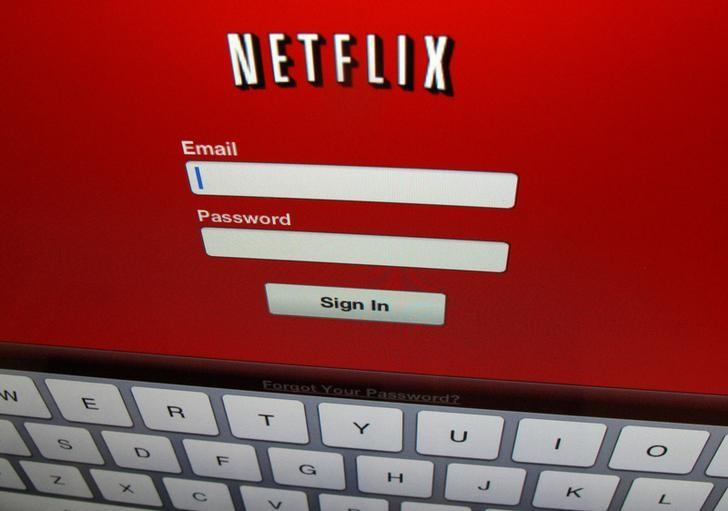 FILE PHOTO - The Netflix sign on screen is shown on an iPad in Encinitas, California, U.S. on April 19,2013. REUTERS/Mike Blake/File Photo