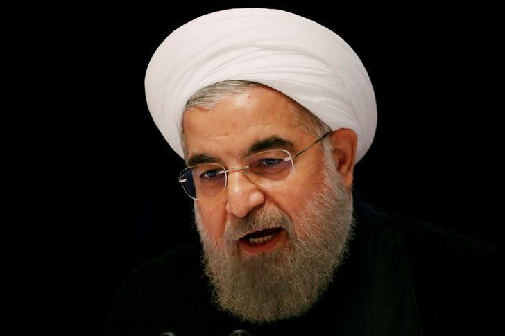 FILE PHOTO: Iranian President Hassan Rouhani speaks at a news conference near the United Nations General Assembly in New York, U.S., September 22, 2016.   REUTERS/Lucas Jackson/File Photo