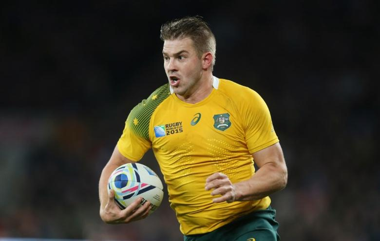FILE PHOTO - Rugby Union - Argentina v Australia - IRB Rugby World Cup 2015 Semi Final - Twickenham Stadium, London, England - 25/10/15 - Australia's Drew Mitchell in action Reuters / Russell Cheyne