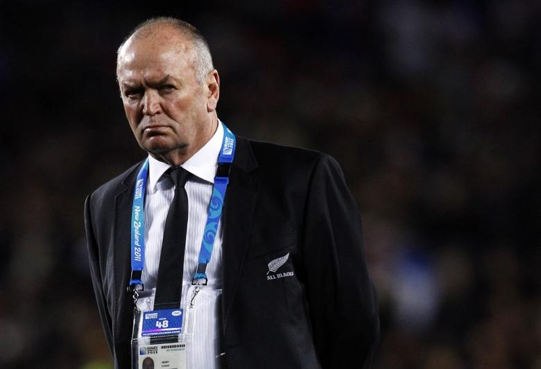 FILE PHOTO - New Zealand All Blacks coach Graham Henry looks on before their Rugby World Cup final match against France at Eden Park in Auckland October 23, 2011. REUTERS/David Gray