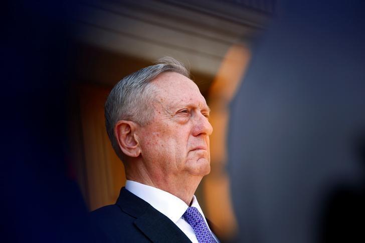 U.S. Defense Secretary James Mattis is seen at the Pentagon in Arlington, VA, U.S. April 13, 2017. REUTERS/Eric Thayer