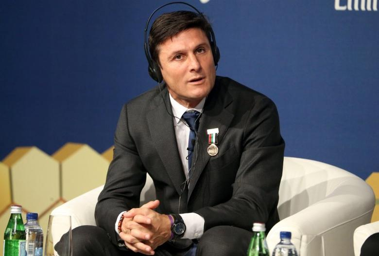 Inter Milan Vice President Javier Zanetti takes part in the 11th Dubai International Sports Conference in Dubai, United Arab Emirates December 28, 2016. REUTERS/Stringer