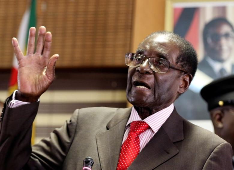 FILE PHOTO: Zimbabwe's President Robert Mugabe in Harare, Zimbabwe, February 21, 2017. REUTERS/Philimon Bulawayo