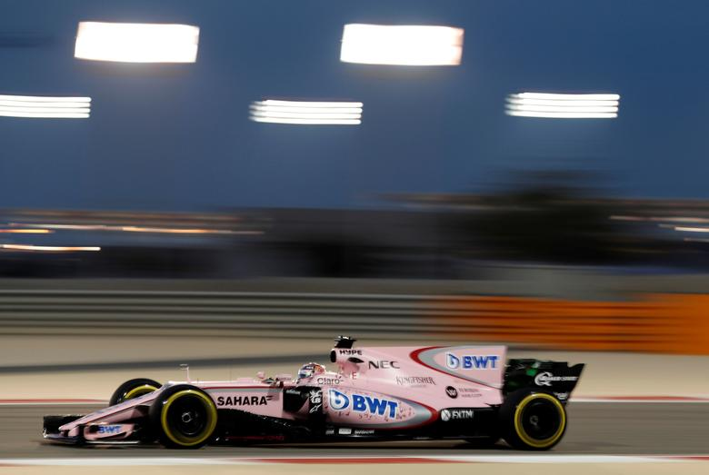 Formula One - F1 - Bahrain Grand Prix - Sakhir, Bahrain - 14/04/17 - Force India Formula One driver Sergio Perez of Mexico drives during the second practice session of the Bahrain F1 Grand Prix. REUTERS/Hamad I Mohammed