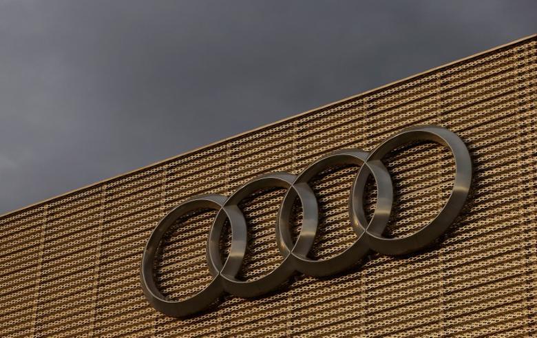 2016年11月22日,瑞士Duebendorf,一家汽车经销商处的奥迪logo。REUTERS/Arnd Wiegmann