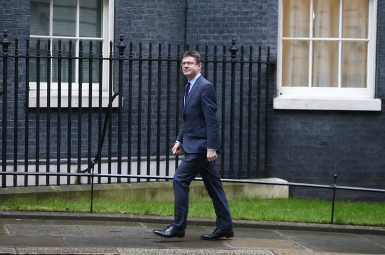 FILE PHOTO: Britain's Secretary of State for Business, Energy and Industrial Strategy Greg Clark arrives at 10 Downing Street for a cabinet meeting in London, March 8, 2017. REUTERS/Neil Hall