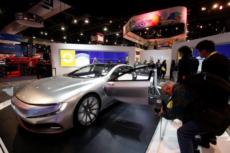The LeSee Pro electric concept vehicle by LeEco is displayed during the 2017 CES in Las Vegas, Nevada January 5, 2017. REUTERS/Steve Marcus