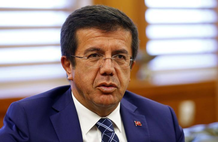 Turkey's Economy Minister Nihat Zeybekci speaks during an interview with Reuters in Ankara, Turkey, June 7, 2016. To match Interview TURKEY-ECONOMY/MINISTER REUTERS/Umit Bektas