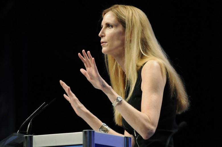 FILE PHOTO:  Commentator Ann Coulter speaks to the Conservative Political Action conference (CPAC) in Washington, February 12, 2011. REUTERS/Jonathan Ernst