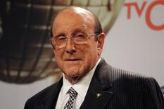 Producer Clive Davis poses backstage at the 46th NAACP Image Awards in Pasadena, California February 6, 2015.   REUTERS/Jonathan Alcorn