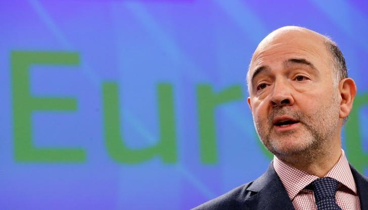 European Economic and Financial Affairs Commissioner Pierre Moscovici addresses a news conference on the European Semester Winter Package in Brussels, Belgium February 22, 2017. REUTERS/Francois Lenoir