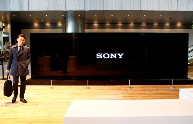 Sony Corp's logo is seen on its Crystal LED Integrated Structure (CLEDIS) display at its headquarters in Tokyo, Japan, February 2, 2017.  REUTERS/Kim Kyung-Hoon