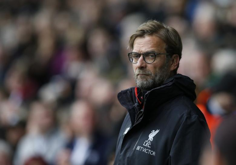 Britain Soccer Football - West Bromwich Albion v Liverpool - Premier League - The Hawthorns - 16/4/17 Liverpool manager Juergen Klopp  Reuters / Andrew Yates Livepic