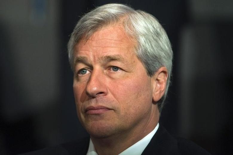 Jamie Dimon, chairman and chief executive of JP Morgan Chase and Co, speaks at the 2012 Simon Graduate School of Business' New York City Conference in New York, May 3, 2012. REUTERS/Keith Bedford