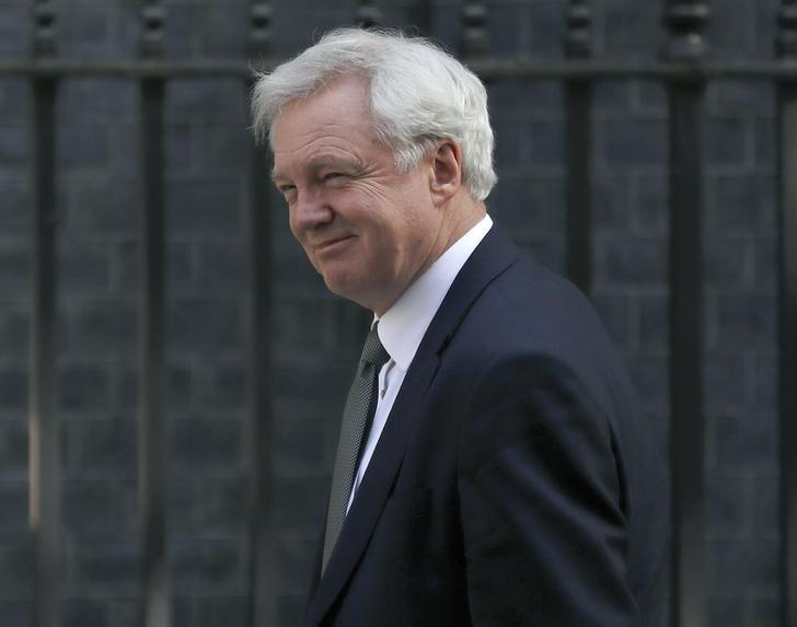 Britain's Secretary of State for Exiting the European Union David Davis arrives at 10 Downing Street in central London, Britain April 19, 2017.  REUTERS/Stefan Wermuth