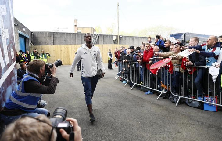 Britain Football Soccer - Burnley v Manchester United - Premier League - Turf Moor - 23/4/17 Manchester United's Paul Pogba arrives before the match  Action Images via Reuters / Jason Cairnduff Livepic