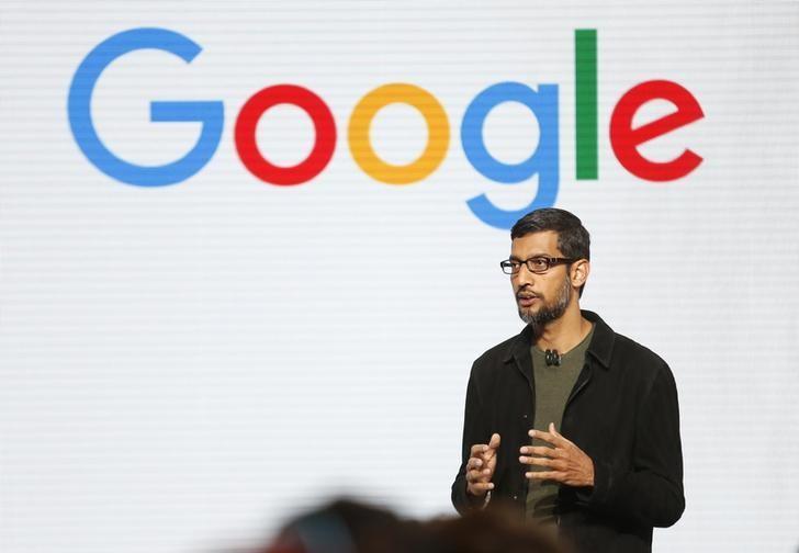 Google CEO Sundar Pichai speaks during the presentation of new Google hardware in San Francisco, California, U.S. October 4, 2016.   REUTERS/Beck Diefenbach