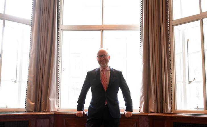The leader of the United Kingdom Independence Party (UKIP), Paul Nuttall, poses ahead of an election campaign event in London, Britain, April 24, 2017. REUTERS/Toby Melville