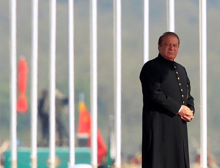 Pakistan's Prime Minister Nawaz Sharif attends the Pakistan Day military parade in Islamabad, Pakistan, March 23, 2017. REUTERS/Faisal Mahmood