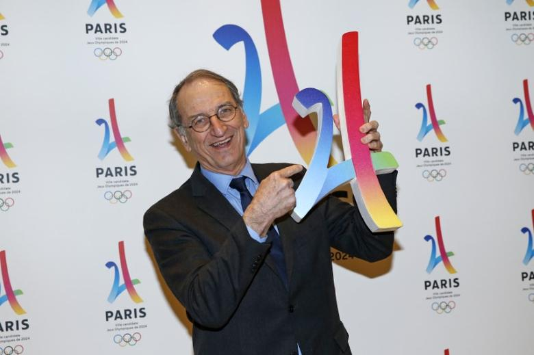President of the French National Olympic and Sports Committee Denis Masseglia holds the logo as he attends the presentation of the Paris candidacy for the 2024 Olympic and Paralympic Games in Paris, France, February 17, 2016. REUTERS/Benoit Tessier  Picture Supplied by Action Images