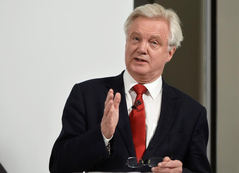 Britain's Secretary of State for exiting the EU David Davis speaks at a campaign event in London, May 3, 2017. REUTERS/Hannah McKay