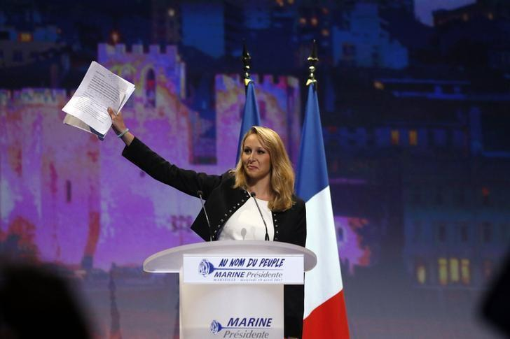 Marion Marechal-Le Pen, French National Front political party deputy, attends a political rally in Marseille, France, April 19, 2017. REUTERS/Robert Pratta/Files