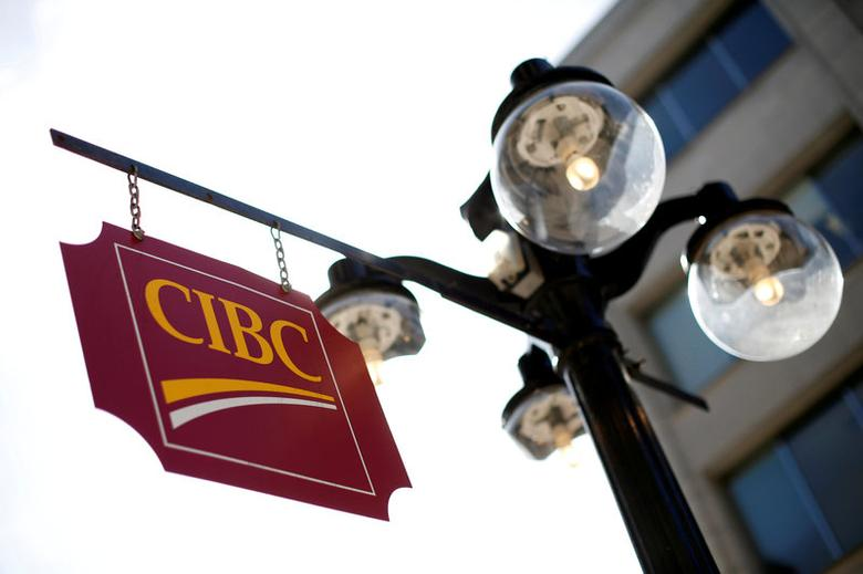 FILE PHOTO: A Canadian Imperial Bank of Commerce (CIBC) sign is seen outside of a branch in Ottawa, Ontario, Canada on May 26, 2016. REUTERS/Chris Wattie/File Photo