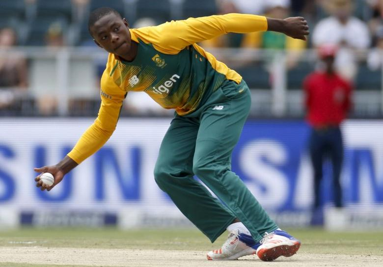 South Africa's Kagiso Rabada fields the ball  during the second T20 international cricket match against England in Johannesburg, February 21, 2016. REUTERS/Sydney Seshibedi  Picture Supplied by Action Images