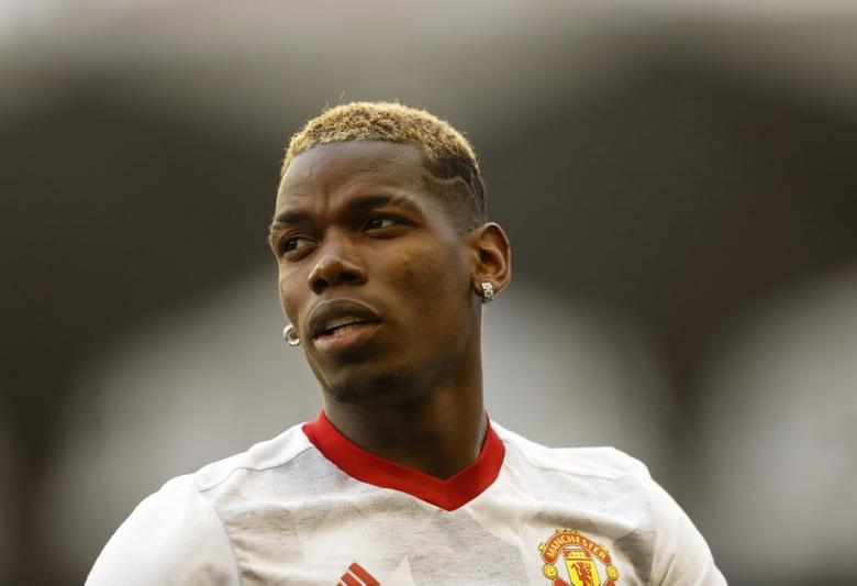 Football Soccer - Celta Vigo v Manchester United - UEFA Europa Semi Final First Leg - Balaidos Stadium, Vigo, Spain - 4/5/17 Manchester United's Paul Pogba warms up before the match  Action Images via Reuters / Carl Recine Livepic