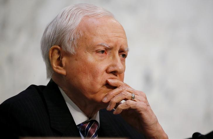 U.S. Senator Orrin Hatch (R-UT) listens to U.S. Supreme Court nominee judge Neil Gorsuch during the third day of his Senate Judiciary Committee confirmation hearing on Capitol Hill in Washington, U.S., March 22, 2017. REUTERS/Jim Bourg